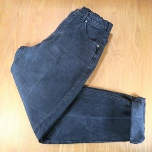[Lee] Vintage Black High Waisted Mom Jeans Size 8